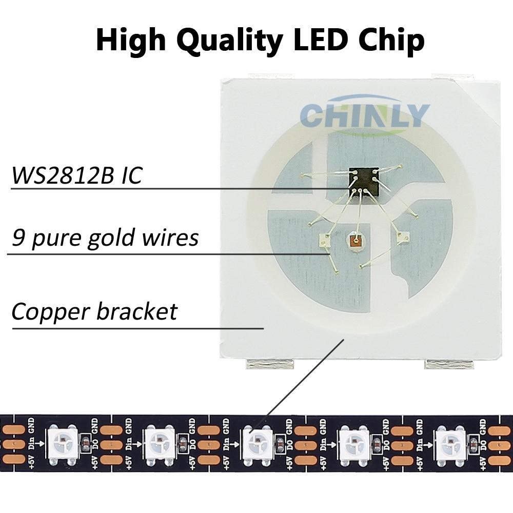 WS2812B LED sloksnes individuāli adresējamas RGB Smart pikseļi - LED Apgaismojums - Foto 5