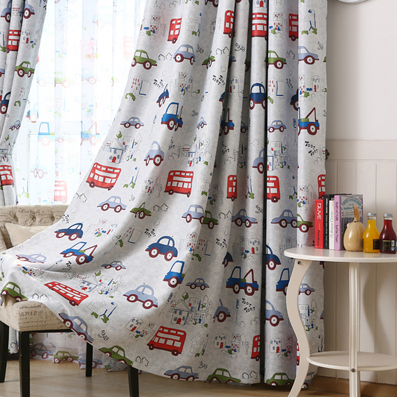 byetee cars bedroom blackout curtains kids curtain baby room window boy finished curtain shade cloth cortinas cortina - Blackout Shades For Baby Room