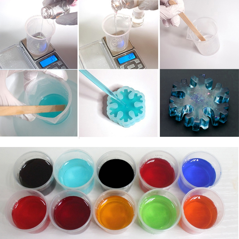 UV Resin Ultraviolet Curing Resin Liquid Pigment Dye Handmade Art Craft 15 Color