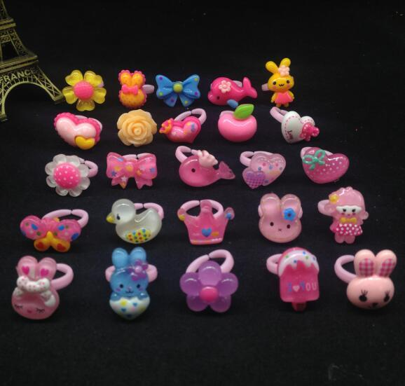 10pcs Mix Animals flower Fruit Metal Resin Assorted Baby Kids Girls Children Adj
