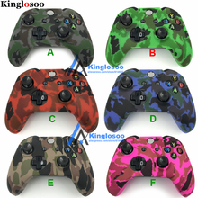 Camouflage Camo Soft Silicone Gel Skin Rubber Case sleeve Gamepad Grip Protective Cover for Xbox One Controller