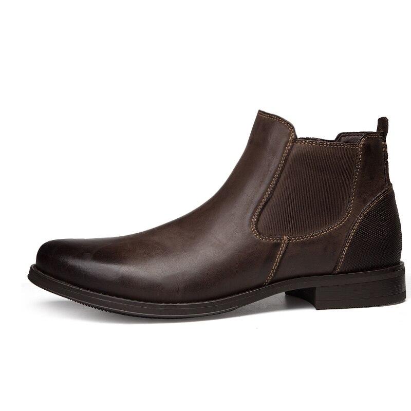 Caoutchouc 2018 Eur Occasionnel Vache En Black De Date Homme 39 Otto Bottes Chaussures 47 Hommes Style Taille 13 brown Bottines Britannique Cuir Chelsea Véritable Us7 wvm8nN0