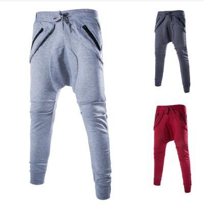 2016 venta Caliente estilo hip hop pantalones de harén hombres grandes corredores de tendencia del todo-fósforo de la manera de la entrepierna pantalones largos de los hombres chándal 4 colores