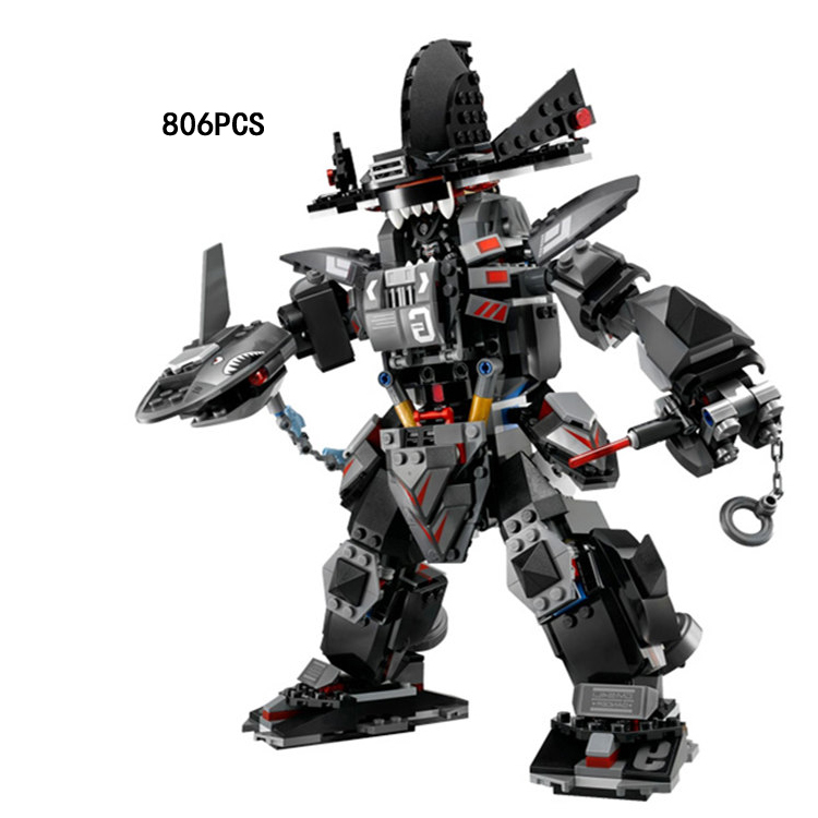 Hot movie ninja Garma mecha man robot go building block GARMADON lloyd Shark man figures bricks 70613 toys for children gifts