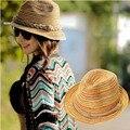 Новый Приход Летом женские Шляпы 2016 Панама Соломы Радуга Дамы Шляпы Пляж Канотье Ведро Шляпа Для Девушки Крышка Вс шляпа