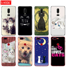 Coque de téléphone en silicone pour Oneplus one plus 6 5 T 5 3 A3000 A5000 chat kitty Meow(China)