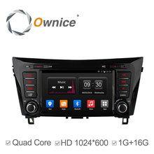 1024*600 Ownice Android4.4 Quad Core Car DVD player For NISSAN QASHQAI XTRAIL 2014 with Radio GPS Navi  support 3G TPMS DVR dab+