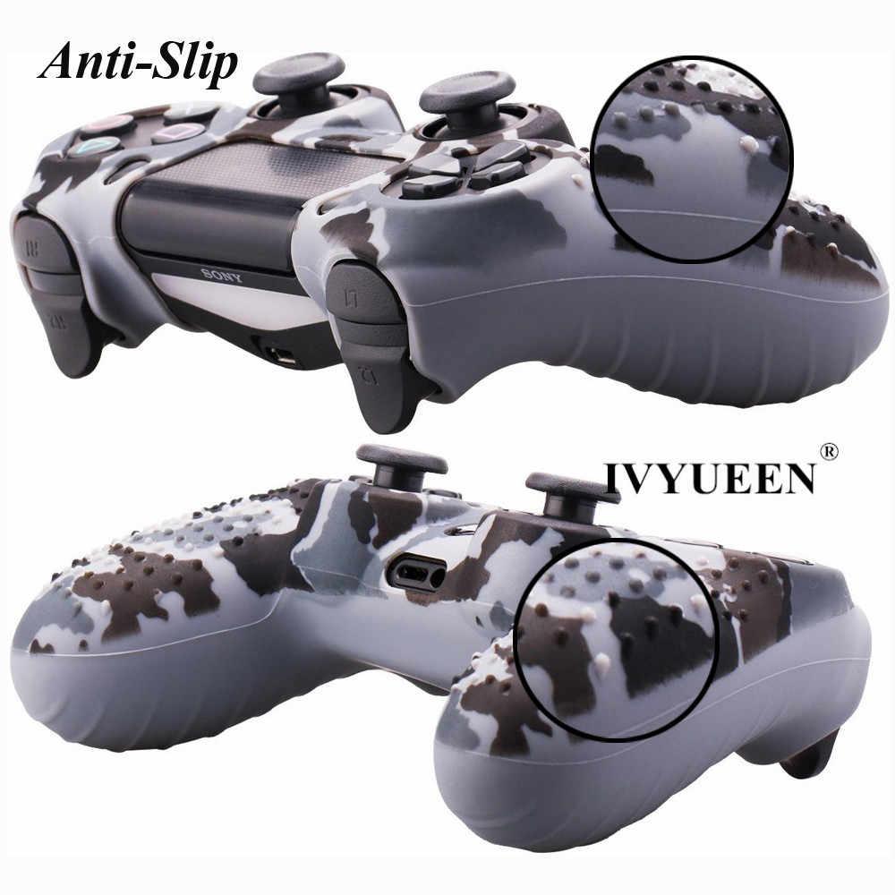 IVYUEEN 19 Цвета Противоскользящий силиконовый кожаный защитый чехол для Игровые приставки 4 PS4 DS4 Pro тонкий контроллер рукоятка пальца шапки