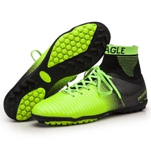 studieux WAO Soccer Shoes XI Superfly High Ankle Football Boots Fluorescent TF Cheap Cleats Athletic Trainer Boot chuteira Turf