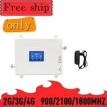 Repetidor de señal móvil GSM 900 LTE DCS 1800 WCDMA 2100mhz, 2G, 3G, 4G, 70dB
