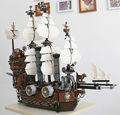 2017 LEPING 16002 Pirate Ship Metal Beard's Sea Cow Model Building Kits minis DIY Blocks Bricks Toys Compatible 70810