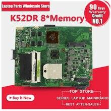 Für ASUS K52DR laptop motherboard A52DE K52DE A52DR K52D Notebook mainboard HD5470 mit 1 gb 8 stücke speicher grafikkarte 100% getestet