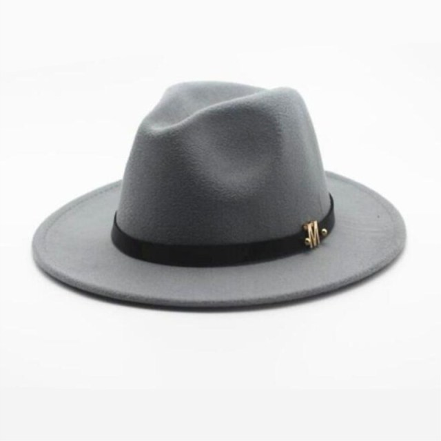 bd108517fa1 11 color New Fashion Wool Women s Black Fedora Hat For Laday Woolen Wide  Brim Jazz Church Cap Vintage Panama Sun Top Hat