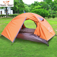 Trackman Ultralight Outdoor Camping Tent 2 Person One Bedroom Double Layers 3 Season Aluminum Pole & Fiber Glass Pole Automatic