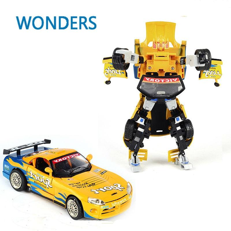 Toys & Hobbies Alloy Transformation Robot Model sport car  Action Figures Classic robot Toys for Children