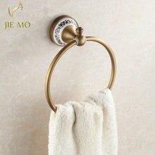 Высокое качество настенное крепление полотенца кольцо/держатель для полотенец, твердая латунь конструкция, Античная бронзовая отделка, аксессуары для ванной комнаты H3657