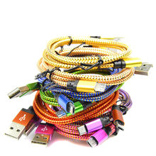 Micro USB 2.0 android Data line 1M/2M/3M Micro USB Cable Charger Data Sync Nylon USB Cable For Android Smart Phone for tablet PC