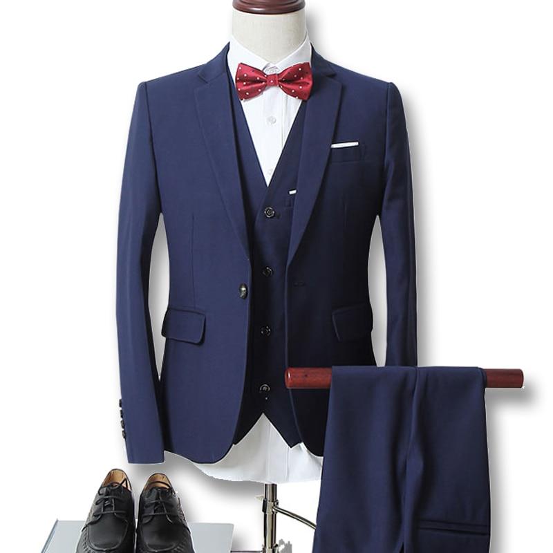 TIAN QIONG Jackets Pants Vest New Men Suits Slim Custom Fit Tuxedo Brand Fashion Bridegroon Business