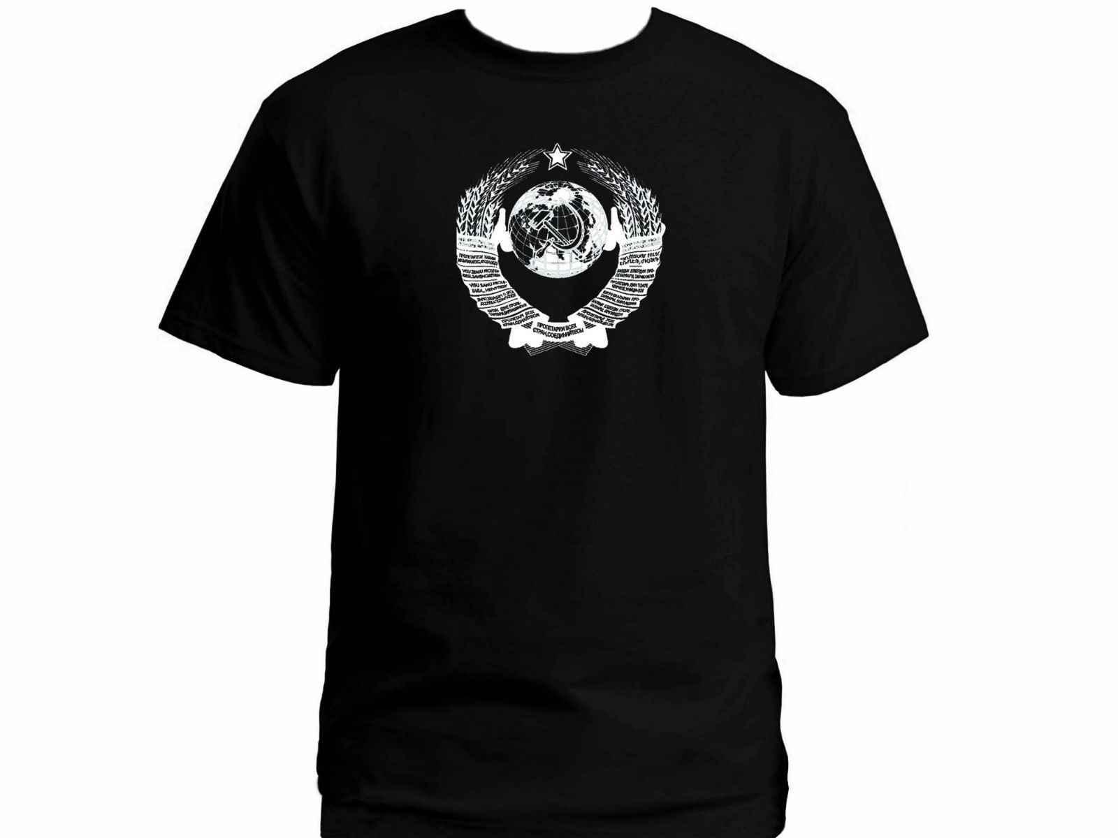 Unión Soviética URSS Cccp Kgb abrigo ruso armas 100% algodón camiseta