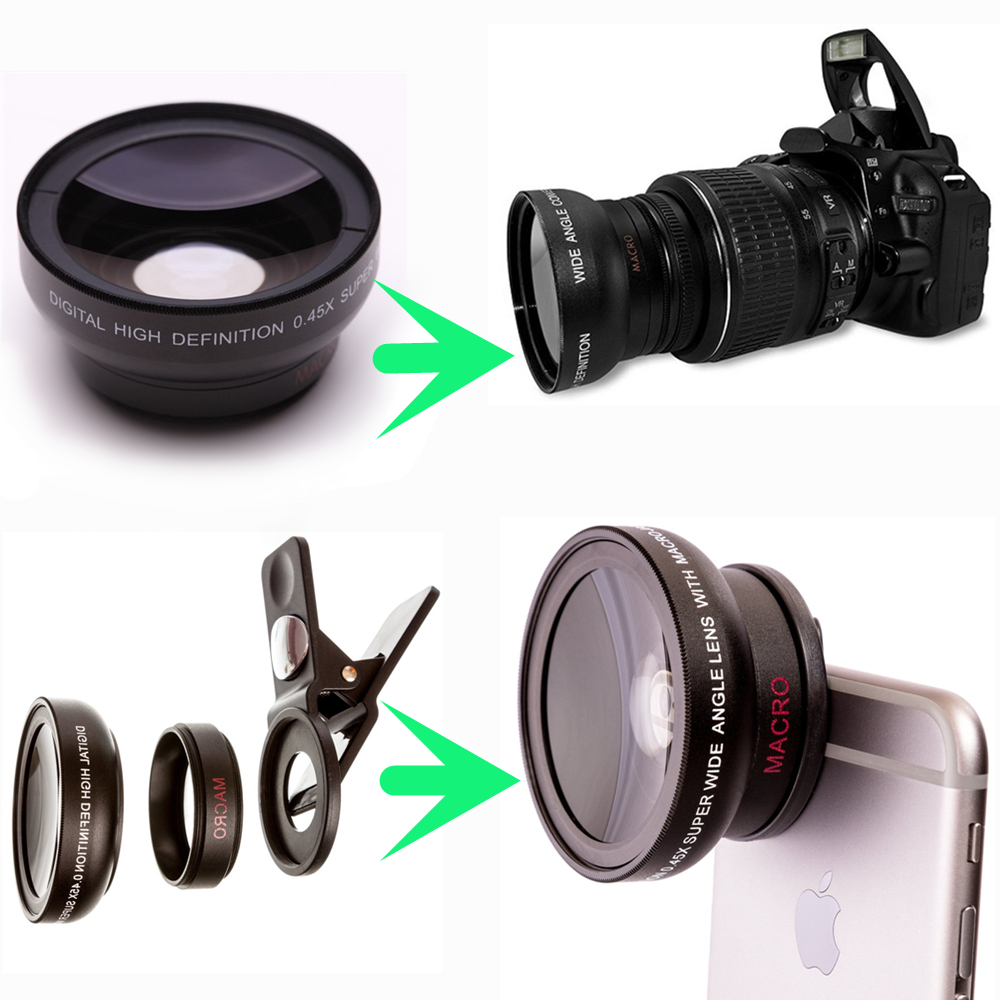 YIXIANG YENİ HD 37MM 0.45x Canon Nikon Sony Pentax 37MM DSLR Kamera - Kamera və foto - Fotoqrafiya 2