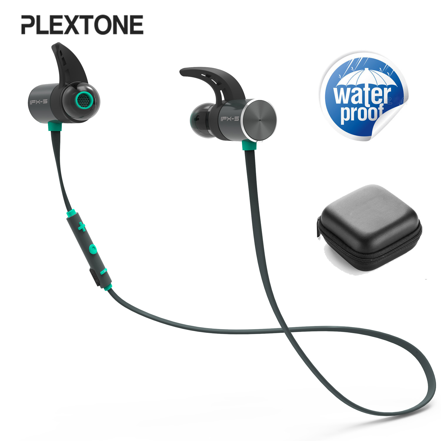 New BX343 Bluetooth Headphone Wireless IPX5 Waterproof Earphone Magnetic Earbuds Headset Skip-free Audio with Mic for Phone awei a920bls 4 1 bluetooth headphone wireless earphone sports ipx5 waterproof headset ear hook hands free with mic for phone
