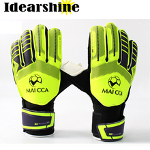 Goalkeeper Supersoft Latex Gloves Football Thicken Finger Guard Goalie Soccer Gloves #16022301(China)