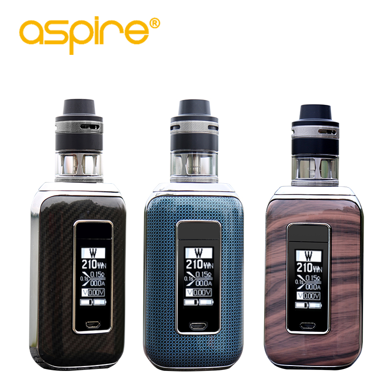 In Stock Aspire SkyStar Revvo Kit Electronic Cigarette 210W Vape Mod with E Cigarette Revvo Tank elektronik cigarette kit v9 350mah mini health electronic cigarette detachable atomizer e cigarette kit with usb ac charger
