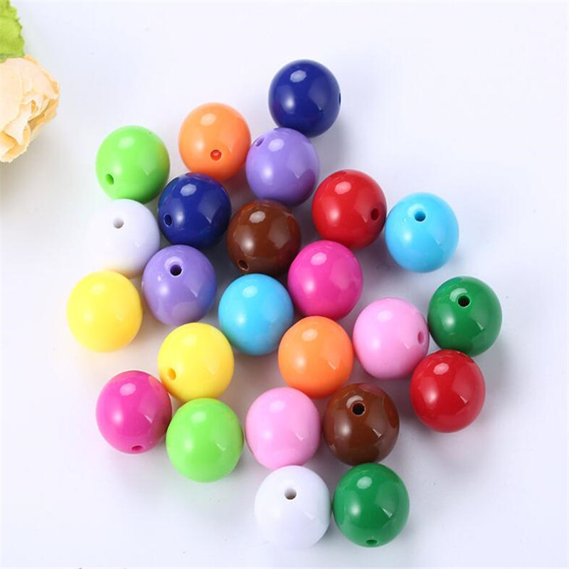 Beads & Jewelry Making Jhnby Top Quality 250pcs Mixed Candy Light Color Acrylic Cream Beads Neon Smooth 6mm Round Loose Beads Fit Jewelry Handmade Diy Clients First Beads