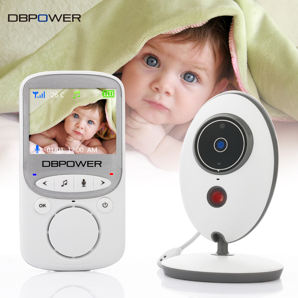 dbpower 2 4 inch 2 4ghz wireles baby monitor vb605 infant. Black Bedroom Furniture Sets. Home Design Ideas