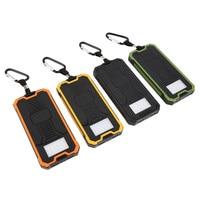 30000MAH Large Capacity Waterproof Solar Power Bank 6LED External Battery Portable Charger Power Bank Dual USB