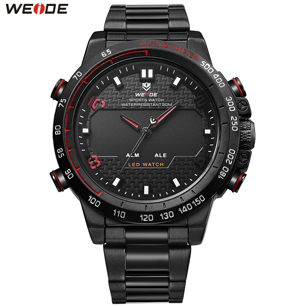 2018 Top Brand WEIDE Man Fashion Sport Watch Men LED Digital Quartz Watch Waterproof Military Man Wristwatch Relogios Masculino top brand fashion weide military sport watch men digital quartz led alarm day dual time man wristwatches relogios montre homme