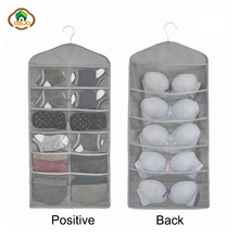 Msjo Underwear Organizer Double-sided Oxford Socks Hanging Bags Storage Classify Bag Home Wardrobe Container