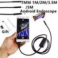 """7 MM 1 M/2 M/3.5 M/5 M de Enfoque Lente de La Cámara Cable USB Resistente Al Agua 6 LED Endoscopio Android 1/9 """"CMOS Mini USB Endoscopio Cámara de Inspección"""