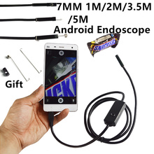 7MM 1M/2M/3.5M/5M Focus Camera Lens USB Cable Waterproof 6 LED Android Endoscope 1/9″ CMOS Mini USB Endoscope Inspection Camera