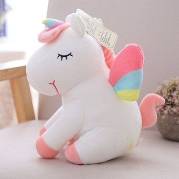 25cm Cute Rainbow Unicorn Plush Toys One Horn Stuffed Animal Horse Toy Doll Soft Pillow Baby Kids Birthday Christmas Gift Toys stuffed toy