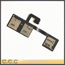 Original for HTC One M7 dual sim 801e 802T 802D 802W sim card reader holder slot tray flex cable