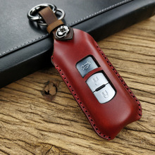 цена на Genuine Leather Car Key Cover Case Bag for Mazda 2 3 6 CX-5 CX-4 CX-3 CX-8 ATENZA AXELA for Smart Car Key