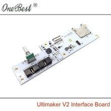 Części Drukarki Ultimaker 3D V2 Interfejsu Pokładzie Zintegrowany Czytnik Kart Sd + Kodowania Klawiszy Nawigacyjnych Oryginalne Miejsce Darmowa Wysyłka