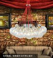 Free ship multi Head Of The Red Bubble Chandelier Pendant Lamp For Decor Sitting Room Bedroom Restaurant Study,Not Include Bulbs