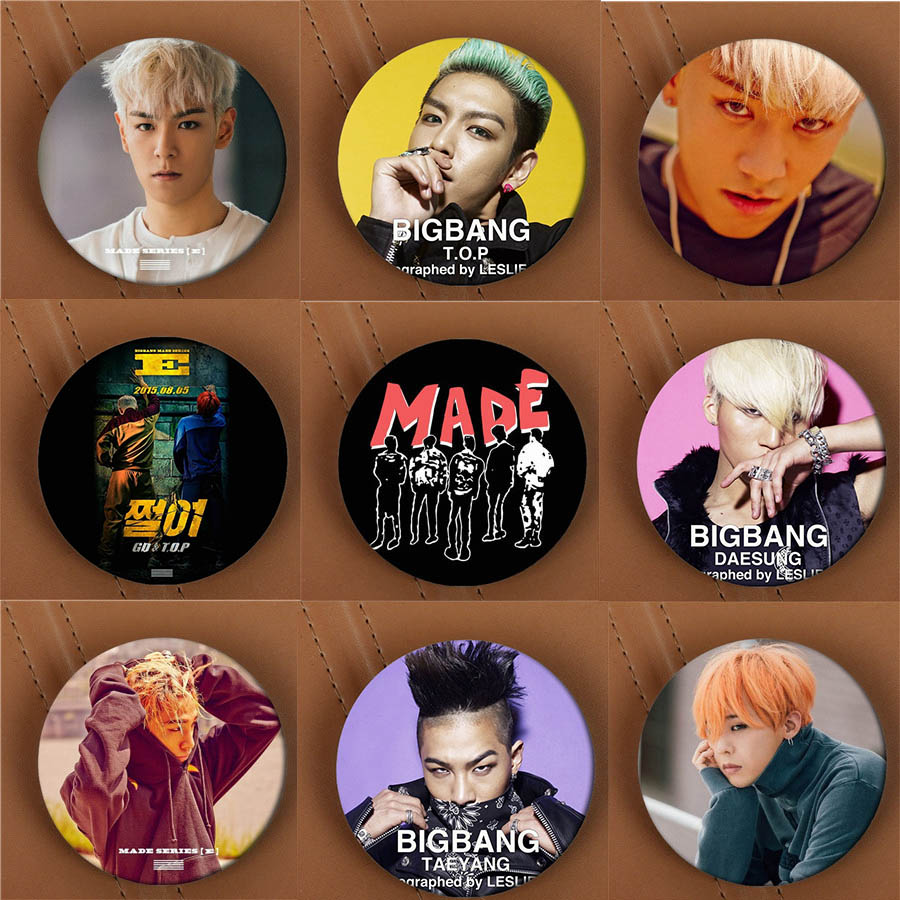 Youpop KPOP BIGBANG GD TOP MADE E Album Brooch K-POP Pin Badge Accessories For Clothes Hat Backpack Decoration HZ1676