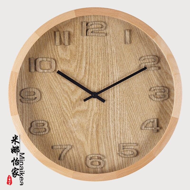 Tuda livraison gratuite horloge murale de Style japonais grande horloge murale horloge à Quartz en bois Design moderne décoration de la maison horloge suspendue