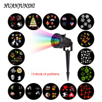 15 PCS RF Wireless Remote Control LED Projection Lamp Snowflake Star Laser Light Stage Lighting Effect