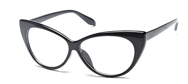 3f4d3d7338 1960 s Vintage Inspired Mod Fashion Clear Lens Super Cat Eye Glasses Cateye