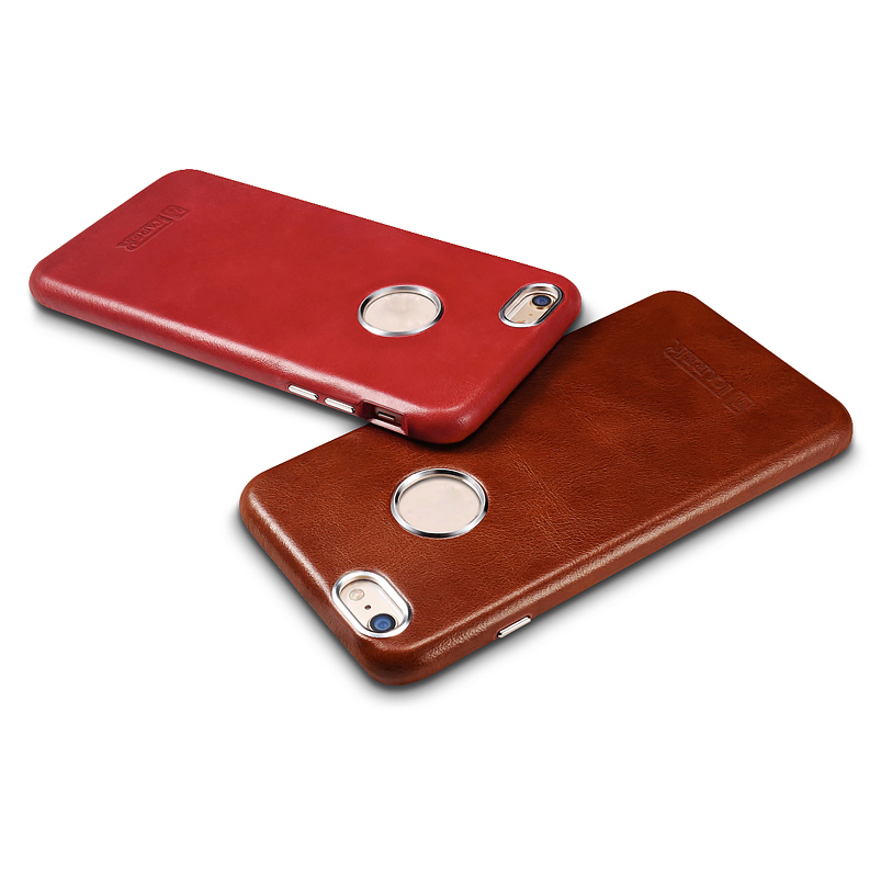 ICARER Business Style Retro Genuino Real Leather Logo Full Cover - Accesorios y repuestos para celulares - foto 4