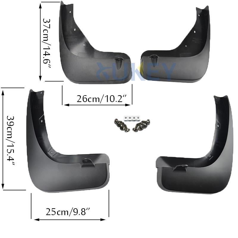Image 2 - Mudflaps For Infiniti FX35 FX37 FX50 QX70 2009   2017 Mud Flaps Splash Guards Mudguards Front Rear 2011 2012 2012 2014 2015 2016-in Mudguards from Automobiles & Motorcycles