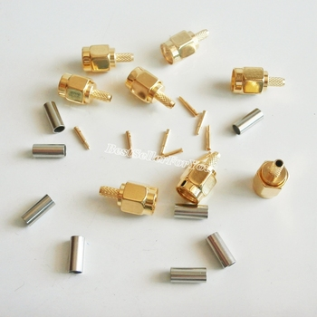 10Pcs High-quality SMA Male Plug Crimp For RG174 RG316 LMR100 Cable RF Connector