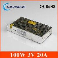 Hohe qualität Einzigen Ausgang schaltnetzteil 100 Watt 3 V 20A ac dc netzteil ac dc-wandler S-100-3