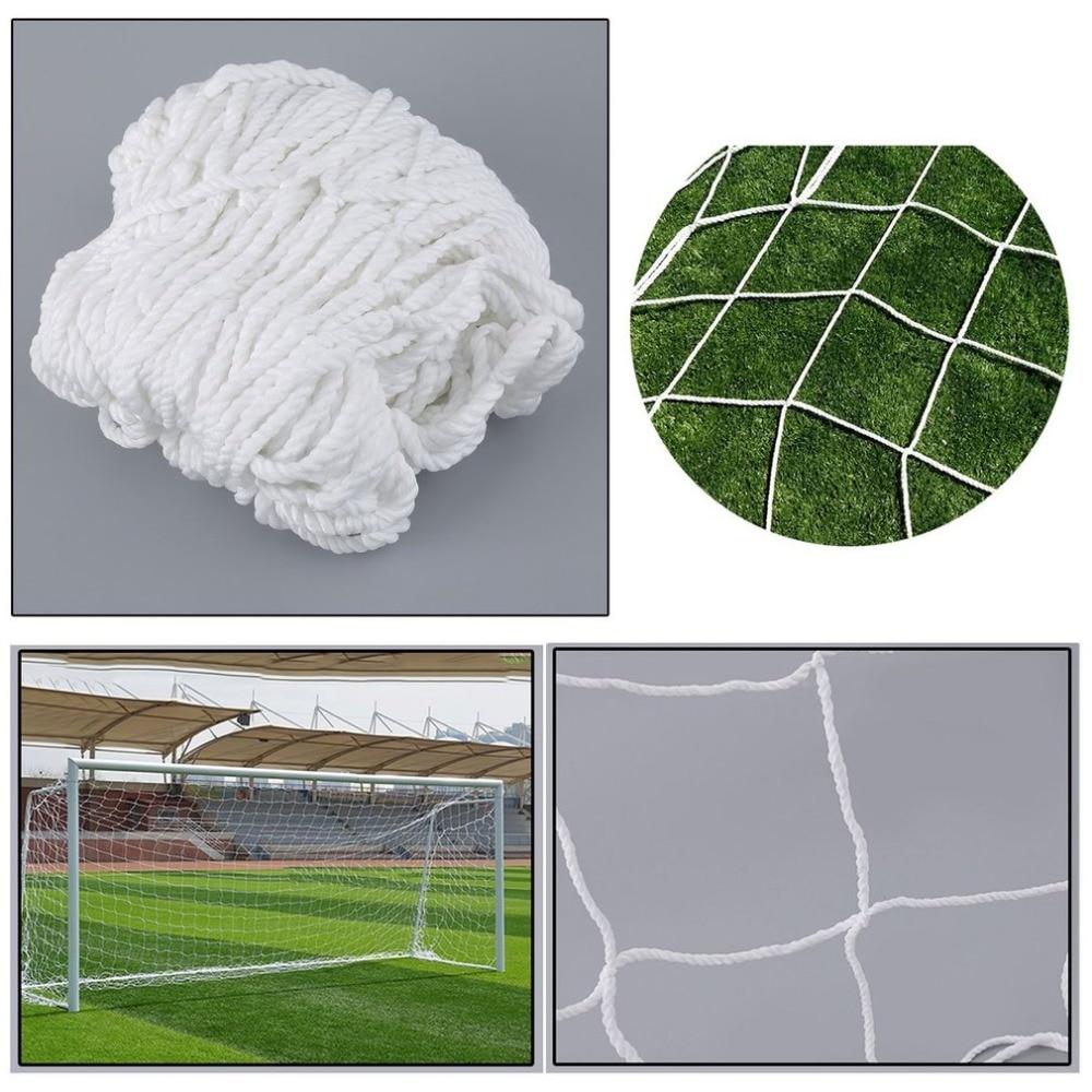 Calcio Netto Full Size PP Obiettivo di Calcio Rete Rete Sport All'aria Aperta Strumento di Formazione Partita di Ricambio Dispositivo di Rete Bianca di Trasporto libero