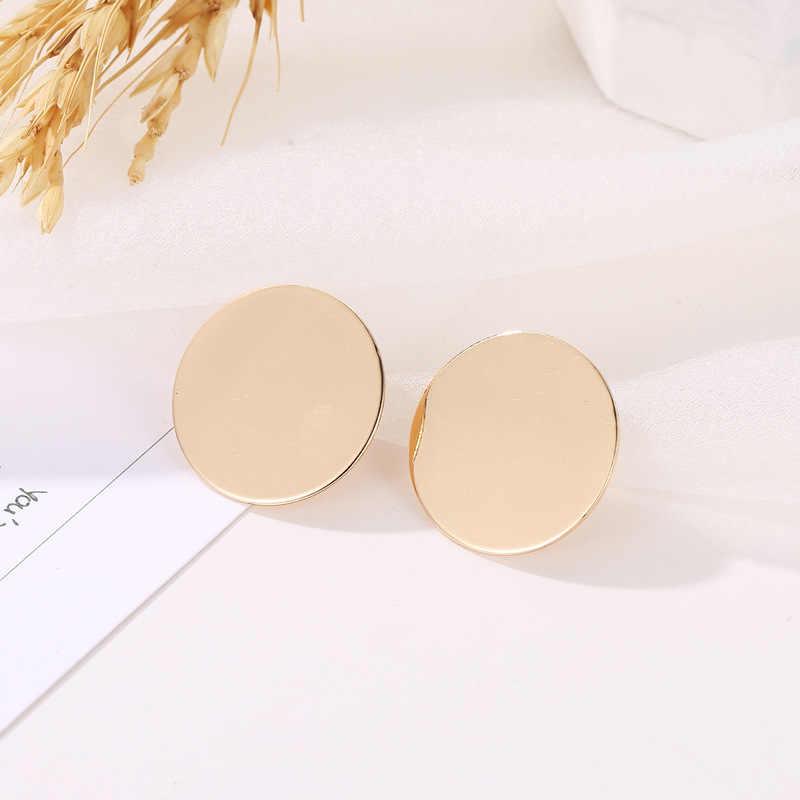 เวเฟอร์คลิปต่างหูผู้หญิงสีทอง Ball เรขาคณิตต่างหูสำหรับงานแต่งงานของขวัญเครื่องประดับขายส่ง