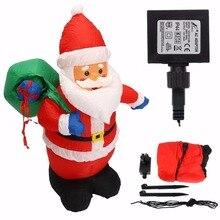 Фотография 1.2m Inflatable Xmas Santa Claus With Hang Bag Christmas Decoration Party DIY Decor Mayitr Festival Supplies